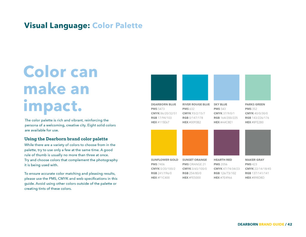 Dearborn Brand Colors